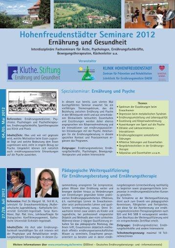 Hohenfreudenstädter Seminare 2012 - Deutsches ...