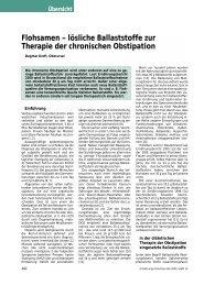 Flohsamen – lösliche Ballaststoffe zur Therapie der chronischen ...