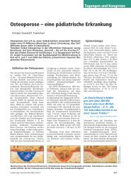 Osteoporose – eine pädiatrische Erkrankung