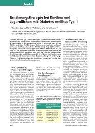 Ernährungstherapie bei Kindern und Jugendlichen mit Diabetes ...