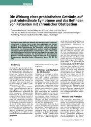 Die Wirkung eines probiotischen Getränks auf gastrointestinale ...
