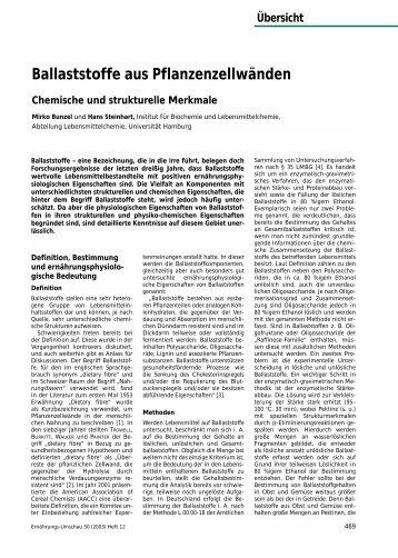 Ballaststoffe aus Pflanzenzellwänden