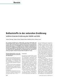Ballaststoffe in der enteralen Ernährung Leitlinie Enterale ...