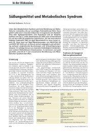 Süßungsmittel und Metabolisches Syndrom