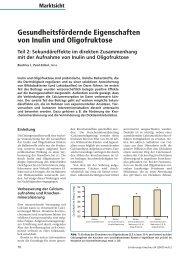 Gesundheitsfördernde Eigenschaften von Inulin und Oligofruktose