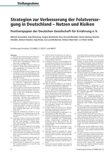 gung in Deutschland – Nutzen und Risiken