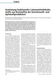 Gewinnung funktioneller Lebensmittelinhalts- stoffe aus Reststoffen ...
