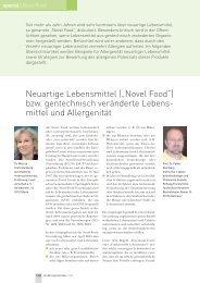 """Neuartige Lebensmittel (""""Novel Food"""") bzw. gentechnisch ..."""