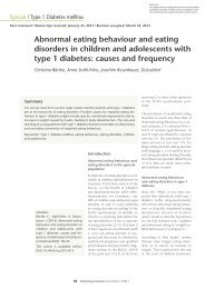 Abnormal eating behaviour and eating disorders in children and ...