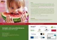 Flyer Lebensmittel von morgen - Steinbeis Europa Zentrum
