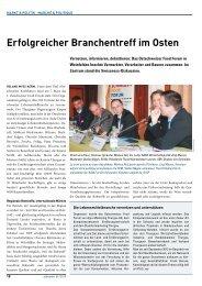 alimenta: Erfolgreicher Branchentreff im Osten - Kompetenznetzwerk ...