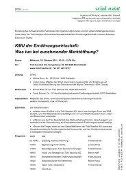 Einladung Business-Event SVIAL - Kompetenznetzwerk ...