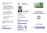 Food Industry Competence Network