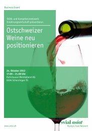 Ostschweizer Weine neu positionieren - Kompetenznetzwerk ...