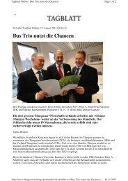 Thurgauer Zeitung: Das Trio nutzt die Chancen (12. Januar 2011)