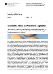 Swisspatat hat es auf Alexandra abgesehen - Agroscope - CH