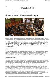 Schweiz in der Champions League - Kompetenznetzwerk ...