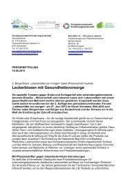 Leckerbissen mit Gesundheitsvorsorge - Kompetenznetzwerk ...