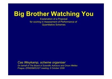 Big Brother Watching You - ERNDIM