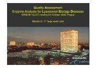Quality Assessment Enzyme Analysis for Lysosomal ... - ERNDIM