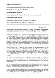 Empfehlungen der Kranken- und Pflegekassen zur ... - Asbh Potsdam