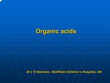 Organic acids - ERNDIM