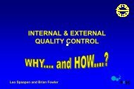 Internal & external quality control - ERNDIM
