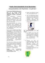 Schule: Integrationshelfer in der Regelschule - Asbh Potsdam