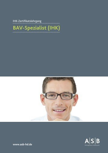 BAV-Spezialist - ASB Bildungsgruppe Heidelberg e.V. – Seminare ...