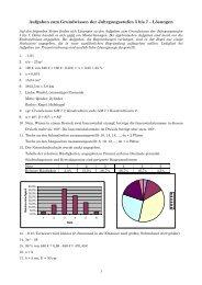 Aufgaben zum Grundwissen der Jahrgangsstufen 5 bis 7 – Lösungen