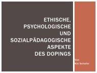 Ethische Aspekte des Dopings