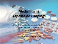 Medizinische Aspekte des Dopings