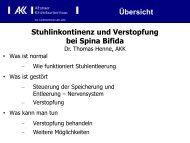 Stuhlinkontinenz und Verstopfung bei Spina Bifida - ASBH Hamburg