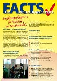 Verfahrensmechaniker/-in für Kunststoff- und ... - ERNEUER:BAR