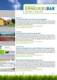 Newsletter 8/August 2010 - Erneuer:Bar - Barnim.de