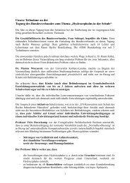 """""""Hydrocephalus in der Schule"""" – eine Tagung des - ASbH Potsdam"""