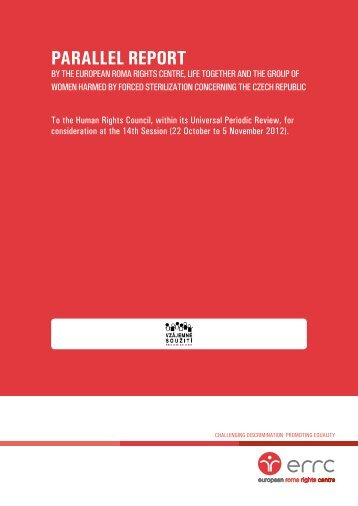PARALLEL REPORT - European Roma Rights Centre