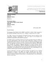 Written Observation - European Roma Rights Centre