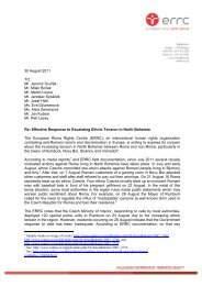 letter - European Roma Rights Centre