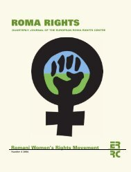 The Romani Women's Movement - European Roma Rights Centre