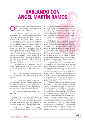HABLANDO CON ANGEL MARTÍN RAMOS - Errenteria