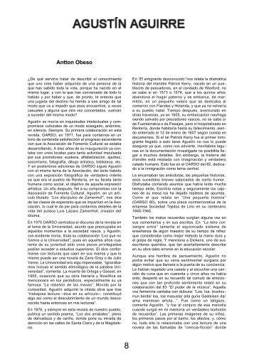 AGUSTÍN AGUIRRE Antton Obeso - Errenteria