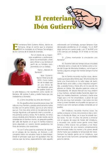 El renteriano Ibón Gutierro - Errenteria
