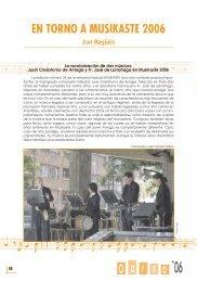 O a os r EN TORNO A MUSIKASTE 2006 - Errenteria