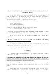 1 ACTA DE LA SESIÓN ORDINARIA DE JUNTA DE ... - Errenteria