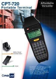 CPT-720 Portable Terminal - VVV System sro