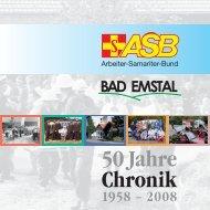 50 Jahre Chronik 1958 - Asb-Ortsverband Bad Emstal