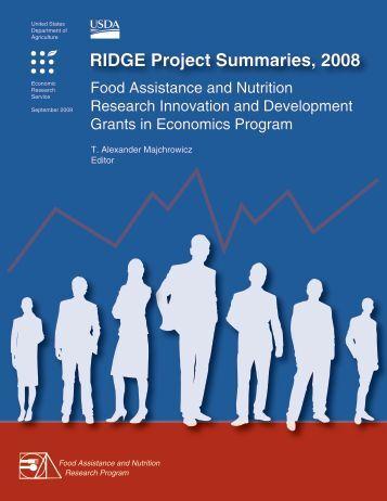 RIDGE Project Summaries, 2008 - Economic Research Service - US ...