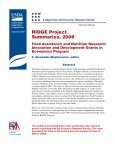 RIDGE Project Summaries, 2008 - Economic Research Service - US ... - Page 3
