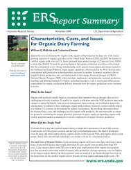 Characteristics, Costs, and Issues for Organic Dairy Farming